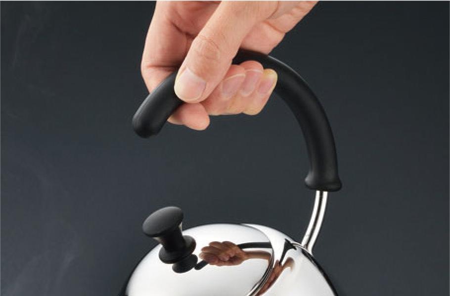 グリップしやすい耐熱シリコーンゴムハンドル